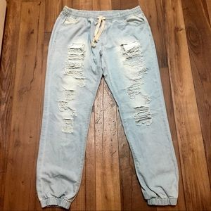 American Bazi boyfriend fit distressed crop jeans